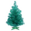 National Tree Co. Tinsel Trees 2' Turquoise Tinsel Artificial Christmas Tree with Plastic Stand