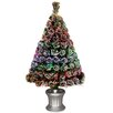 National Tree Co. Fiber Optics 3' Artificial Christmas Tree LED with Base