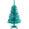 National Tree Co. Tinsel Trees 3' Turquoise Tinsel Artificial Christmas Tree with Plastic Stand