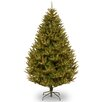 National Tree Co. 7.5' Green Cedar Artificial Christmas Tree with 600 Incandescent Colored and Clear Light with Stand