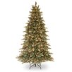 National Tree Co. 7.5' Green Spruce Artificial Christmas Tree with 750 Incandescent Colored and Clear Lights with Stand