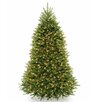 National Tree Co. Dunhill 7.5' Green Fir Artificial Christmas Tree with 750 Incandescent Colored and Clear Lights with Stand