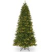 National Tree Co. 7.5' Green Fir Artificial Christmas Tree with 500 Incandescent Colored and Clear Lights with Stand