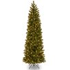 National Tree Co. Downswept Douglas 7' Green Fir Artificial Christmas Tree with 500 Incandescent Colored and Clear Lights with Stand