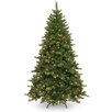 National Tree Co. 7.5' Green Pine Artificial Christmas Tree with 750 Incandescent Colored and Clear Lights with Stand