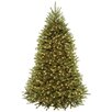 National Tree Co. 7.5' Dunhill Hinged Green Fir Artificial Christmas Tree with 700 Dual LED Lights