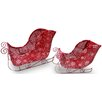 National Tree Co. 2 Piece Santa's Sleigh Christmas Decoration Set