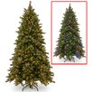 National Tree Co. 7.5' Frosted Berry Memory Hinged Christmas Tree with Dual Color LED Lights