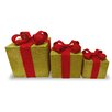 National Tree Co. 3 Piece Christmas Gift Box Decoration Set