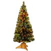 """National Tree Co. Fiber Optics Radiance Fireworks 6"""" Green Artificial Christmas Tree with Base"""