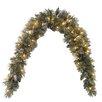 National Tree Co. Glittery Bristle Pine Pre-Lit Mantle Garland