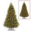 National Tree Co. Kingswood 7.5' Green Fir Artificial Christmas Tree with 450 Colored and White Lights with Stand