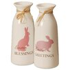 """National Tree Co. Decorative """"Easter Greetings"""" Bottle (Set of 2)"""