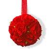National Tree Co. Valentine Rose Ball (Set of 4)
