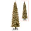 National Tree Co. 7.5' Frosted Green Fir Trees Artificial Christmas Tree with 600 LED Colored and White Lights with Stand