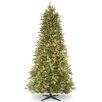 National Tree Co. 6.5' Tiffany Fir Trees Artificial Christmas Tree with 500 Clear Colored and White Lights with Stand