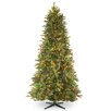 National Tree Co. 6.5' Tiffany Fir Trees Artificial Christmas Tree with 500 Multi-Colored Lights with Stand