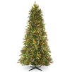 National Tree Co. 7.5' Tiffany Fir Trees Artificial Christmas Tree with 650 Multi-Colored Lights with Stand
