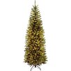 """National Tree Co. Kingswood 7.5"""" Green Pencil Fir Artificial Christmas Tree with Clear Lights with Stand"""