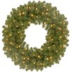 National Tree Co. North Valley Spruce Wreath with Changing Colored LED Lights