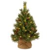 National Tree Co. 3' Green Pine Artificial Christmas Tree with 35 LED Warm White
