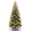 National Tree Co. Dunhill 7.5' Green Fir Artificial Christmas Tree with 600 Clear Lights