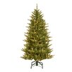 National Tree Co. Natural Fraser 4.5' Green Artificial Christmas Tree with 300 Clear Lights