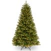 National Tree Co. Deerfield 7.5' Green Fir Artificial Christmas Tree with 700 Clear Lights