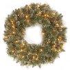 "National Tree Co. Glittery Bristle 30"" Lighted Pine Wreath"
