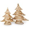 National Tree Co. 2 Piece Rattan Christmas Tree Set