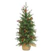 National Tree Co. Nordic 3' Green Spruce Artificial Christmas Tree with 100 LED Warm White