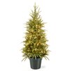 National Tree Co. Weeping 4' Green Spruce Artificial Christmas Tree with 100 Clear Lights