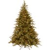 National Tree Co. Fraser 7.5' Green Artificial Christmas Tree with 1000 LED Multi Lights and Stand