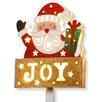 National Tree Co. Pre-Lit Santa with JOY Sign