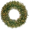 """National Tree Co. Norwood Fir 48"""" Lighted Wreath"""
