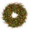 "National Tree Co. 36"" Lighted Juniper Mix Pine Wreath"