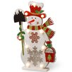 National Tree Co. Pre-Lit Wooden Snowman