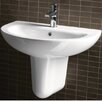 GSI Collection City Modern Curved Wall Hung Half Pedestal Bathroom Sink
