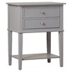 Alcott Hill Grey 2 Drawer End Table