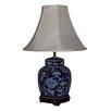 "Lamp Factory Flowers Porcelain 23"" Table Lamp"