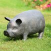 SPI Home Perky Pig Garden Statue with Bluetooth Speaker