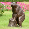 SPI Home Sierra Bear Garden Statue with Bluetooth Speaker