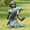 SPI Home Mermaid and Dolphin Garden Statue