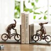 SPI Home Bunnies on Bikes Book Ends (Set of 2)