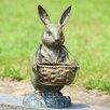 SPI Home Bunny Butler with Basket Statue