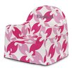 P'kolino Little Reader Pink Leaves Kids Chair