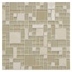 EliteTile Sierra Random Sized Glass and Natural Stone Mosaic Tile in Versailles Sandstone