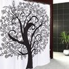 Carnation Home Fashions Tree of Life Shower Curtain