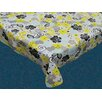 Carnation Home Fashions Retro Garden Flannel Backed  Tablecloth
