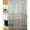 Carnation Home Fashions Vinyl Geo 3D Shower Curtain